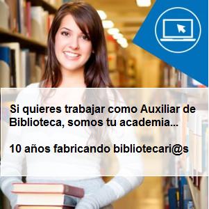 Curso Auxiliar de Biblioteca profesional