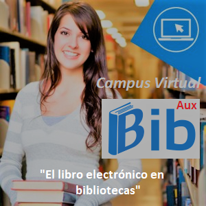 Mujer en biblioteca