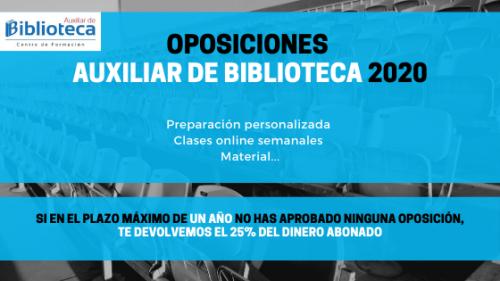 Auxiliar de Biblioteca 2020