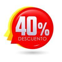 40 por ciento de descuento