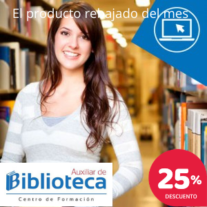 Mujer en una biblioteca