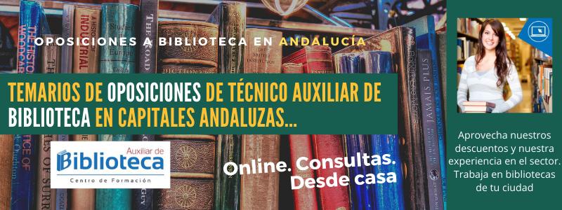 Banner publicidad oposiciones bibliotecas Andalucía